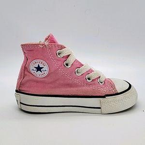 Infant Converse Canvas Pink Hi Tops